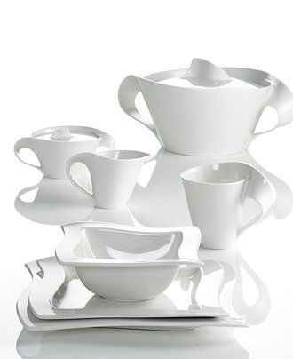 Dinnerware New Wave Collection Dinnerware Sets White Dinnerware Dining And Entertaining