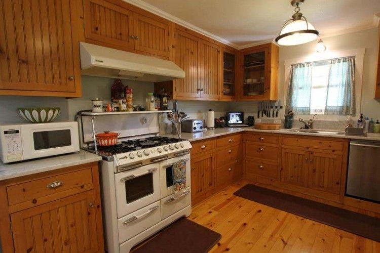 Reclaimed Wood Kitchen Cabinets | Pine kitchen, Kitchen ...