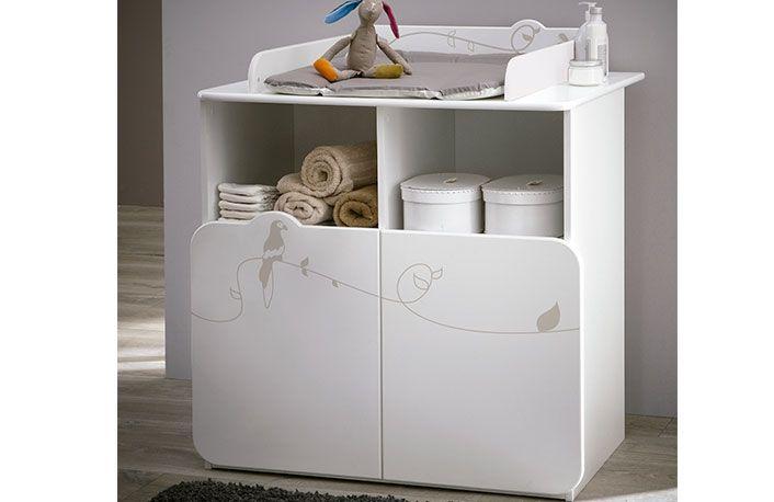 Mueble cambiador bebe con dos puertas y dibujo jungla | Dormitorios ...
