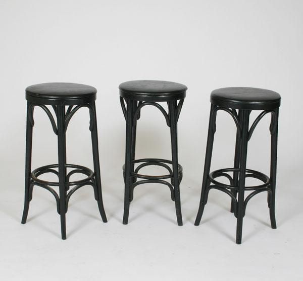Round Barstool Michael Thonet Beech Frame With