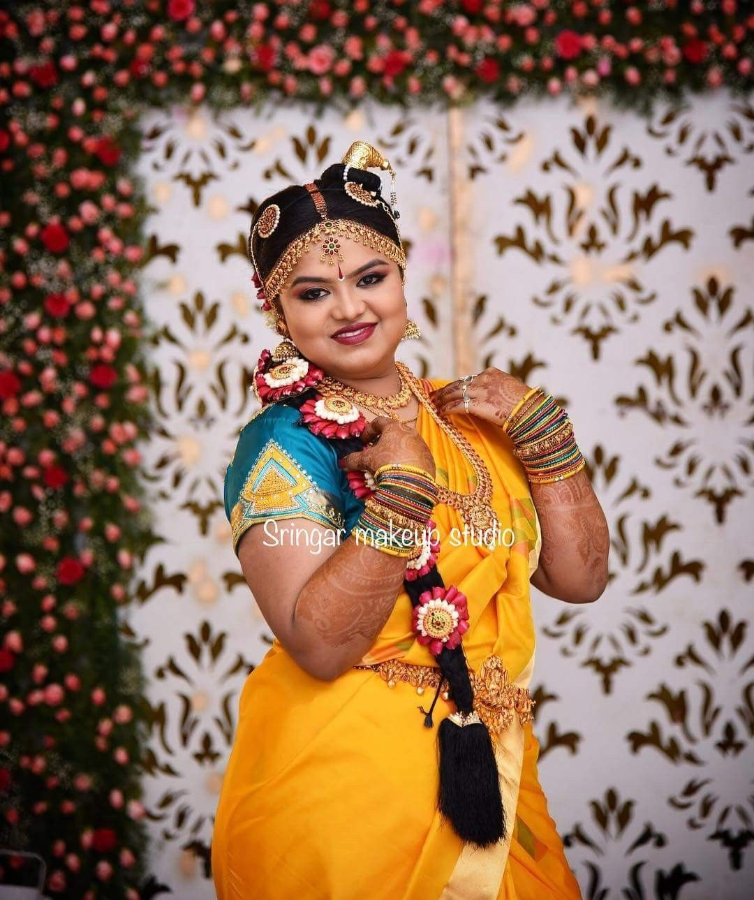 Wedding Kondai Hairstyle: Iyengar Bride South Indian Wedding Indian Bride Andal