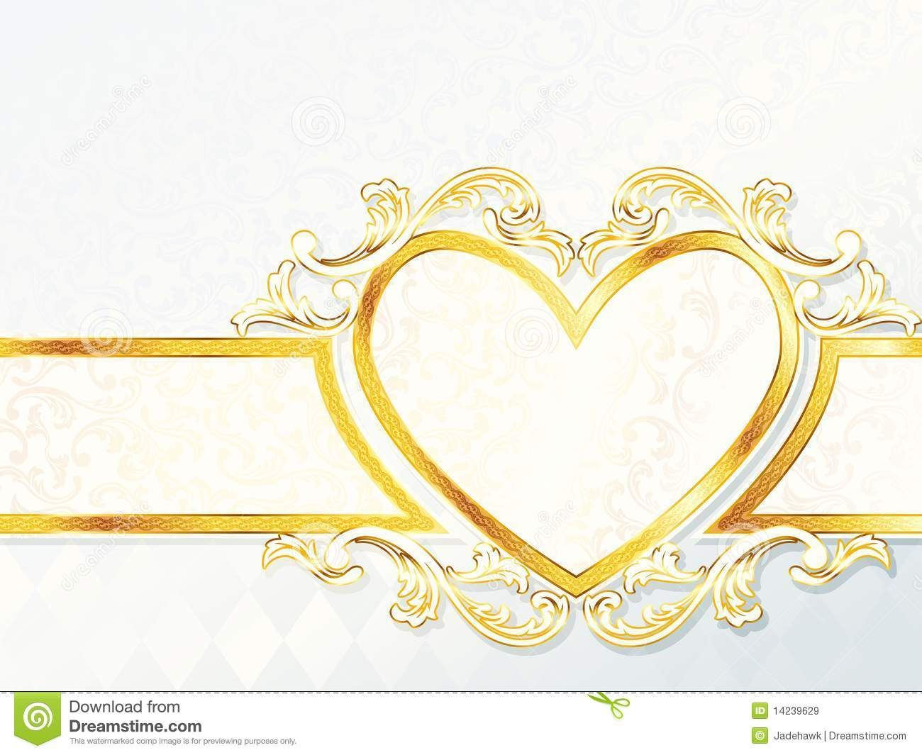 horizontal rococo wedding banner with heart emblem stock regarding wedding banner design templates in 2020 wedding banner design wedding banner banner template design pinterest