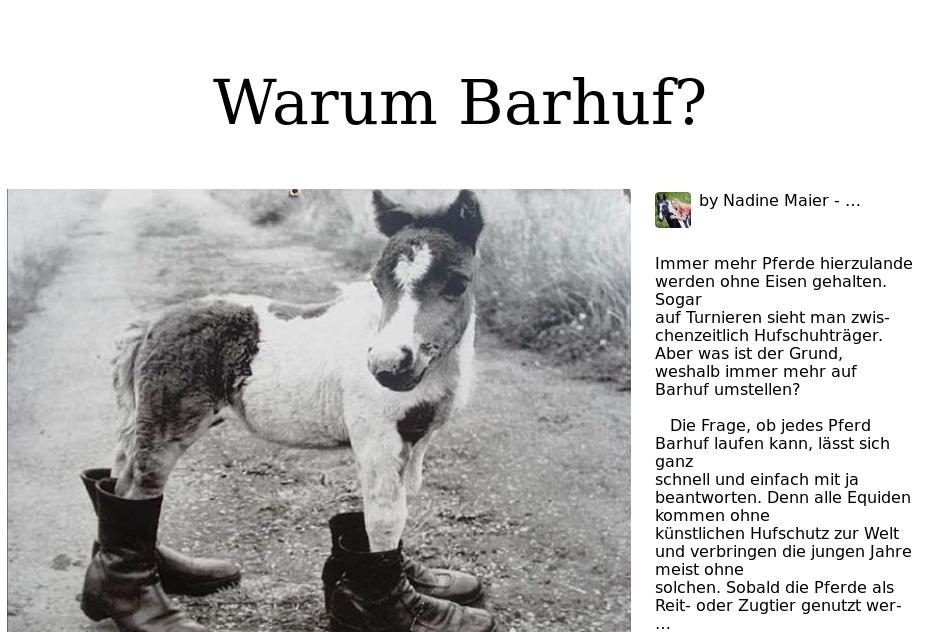 Warum Barhuf?