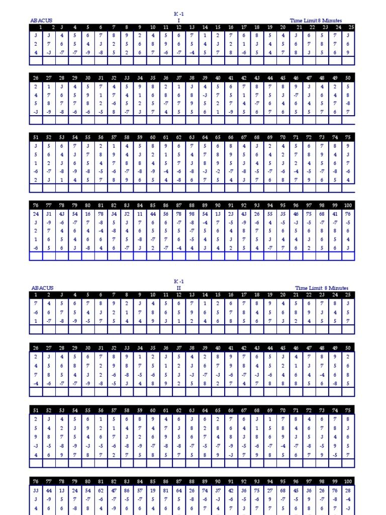 Abacus1 2 3 4 5 6 7 8 9 10 11 K 1 I 12 Abacus Math Math Worksheets Mathematics Worksheets [ 1024 x 768 Pixel ]