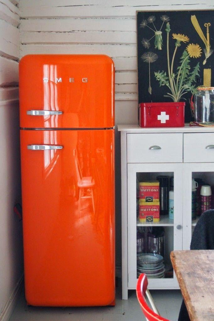 Orange | ColorFULL | Smeg fridge, Home e Refrigerator
