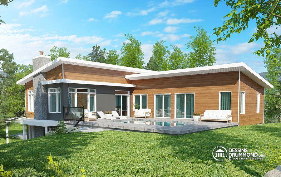 Détail du plan de Maison multi logements W3990 couleurs extérieur