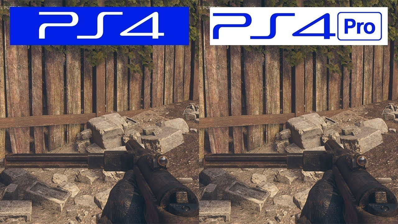 Call of Duty WWII PS4 VS PS4 Pro Graphics Comparison