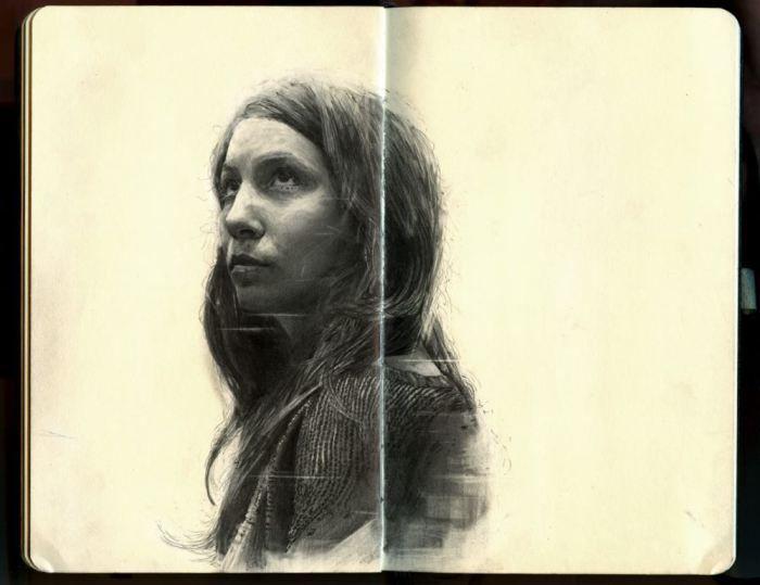 Retratos hechos a lápiz de Thomas Cian 1