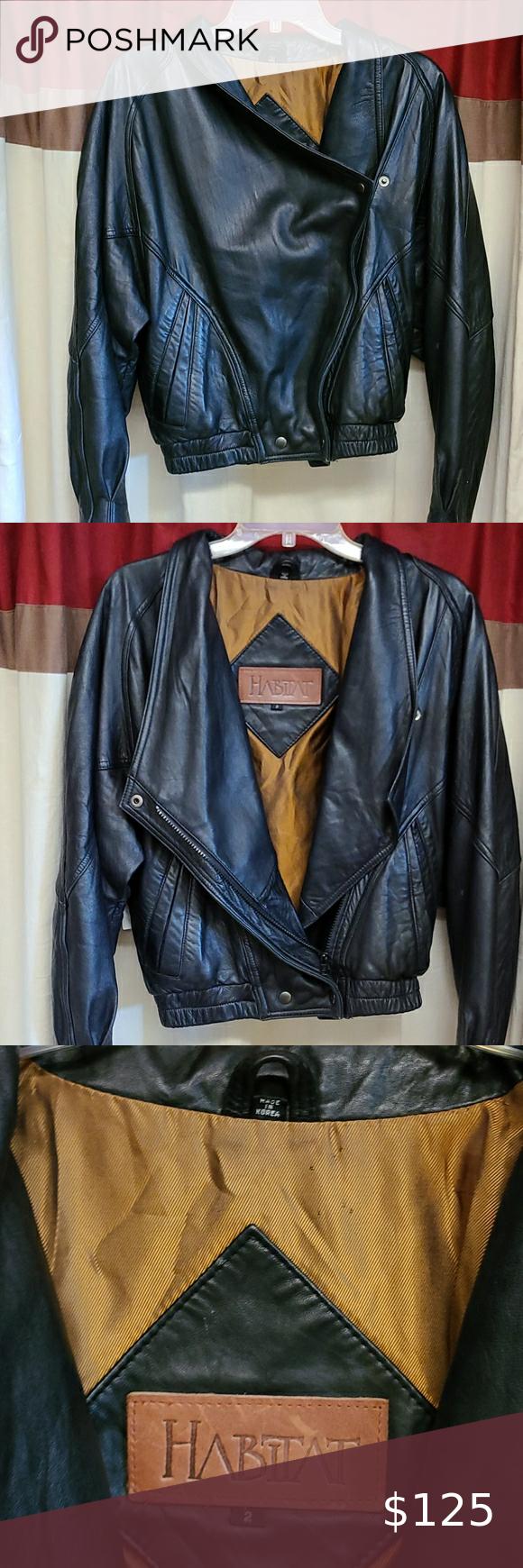 Habitat 100 Leather Jacket Leather Jacket Jackets Real Leather Jacket