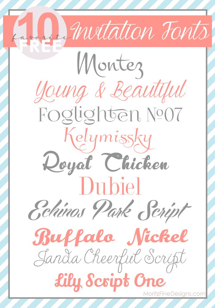 Top 10 Free Invitation Fonts, Free Font Friday-MoritzFineDesigns - free invitation download