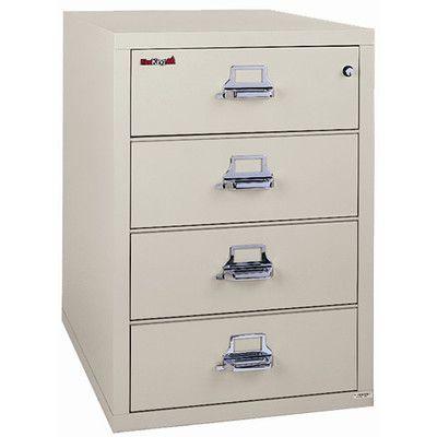 Fireking Fireproof 4 Drawer Vertical Filing Cabinet Filing Cabinet Steel Panels It Is Finished 4 drawer locking file cabinet