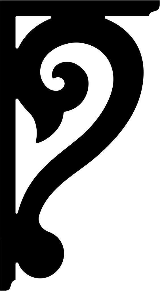 Template For Shelf Bracket Jigsaw Scroll Saw Scroll