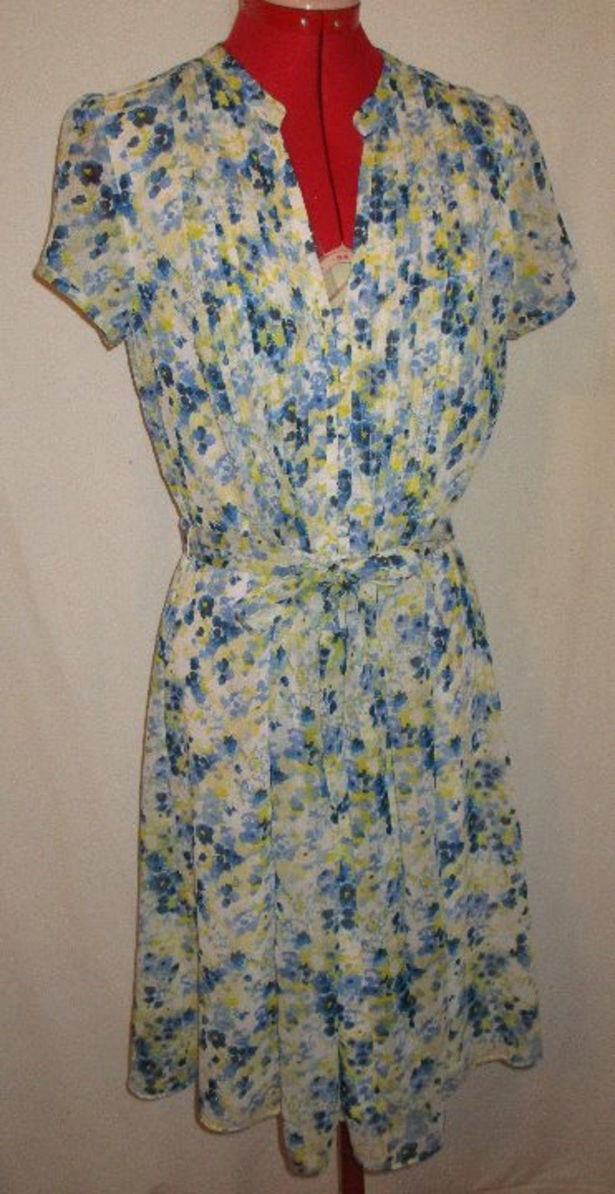 Jbs Yel Blu S/S Dress Sz 10, Ln
