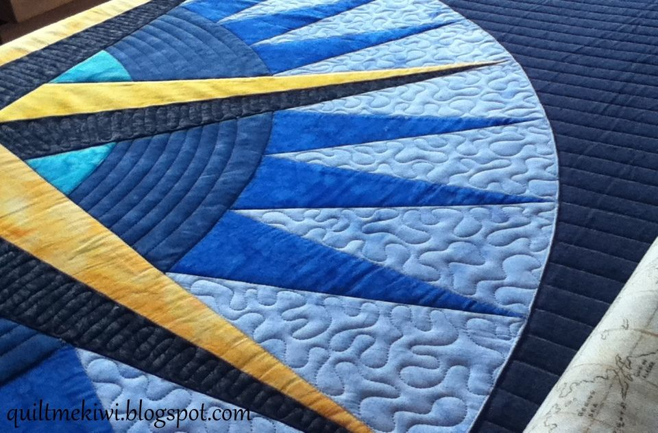 To Keep The 'compass Points' Dimensional I Quilted Only The Dark Stunning Mariners Compass Quilt Pattern