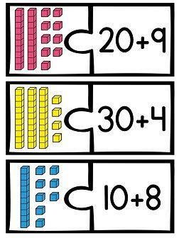 First Grade Math Unit 9 Place Value   Grundschulen, Mathe und Rechnen
