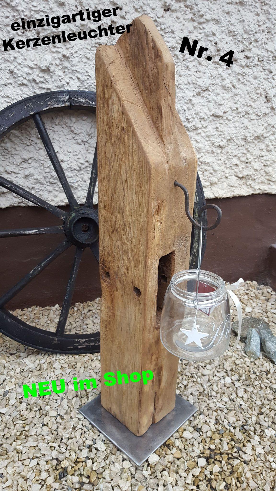Kerzenleuchter Amp Lampen Aus Eichenbalken Schnapsbretter
