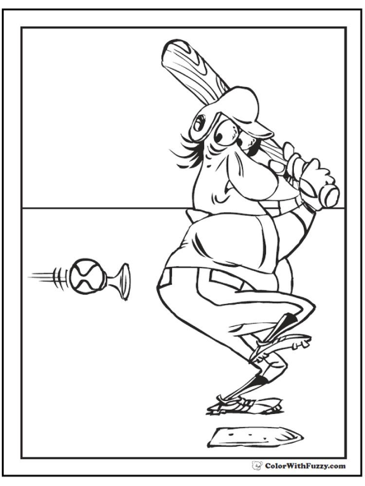 Printable Baseball Catcher Coloring Pages Below Is A Collection Of Baseball Coloring Page That You Can Download For Free Have Fun With Your Child Colorin