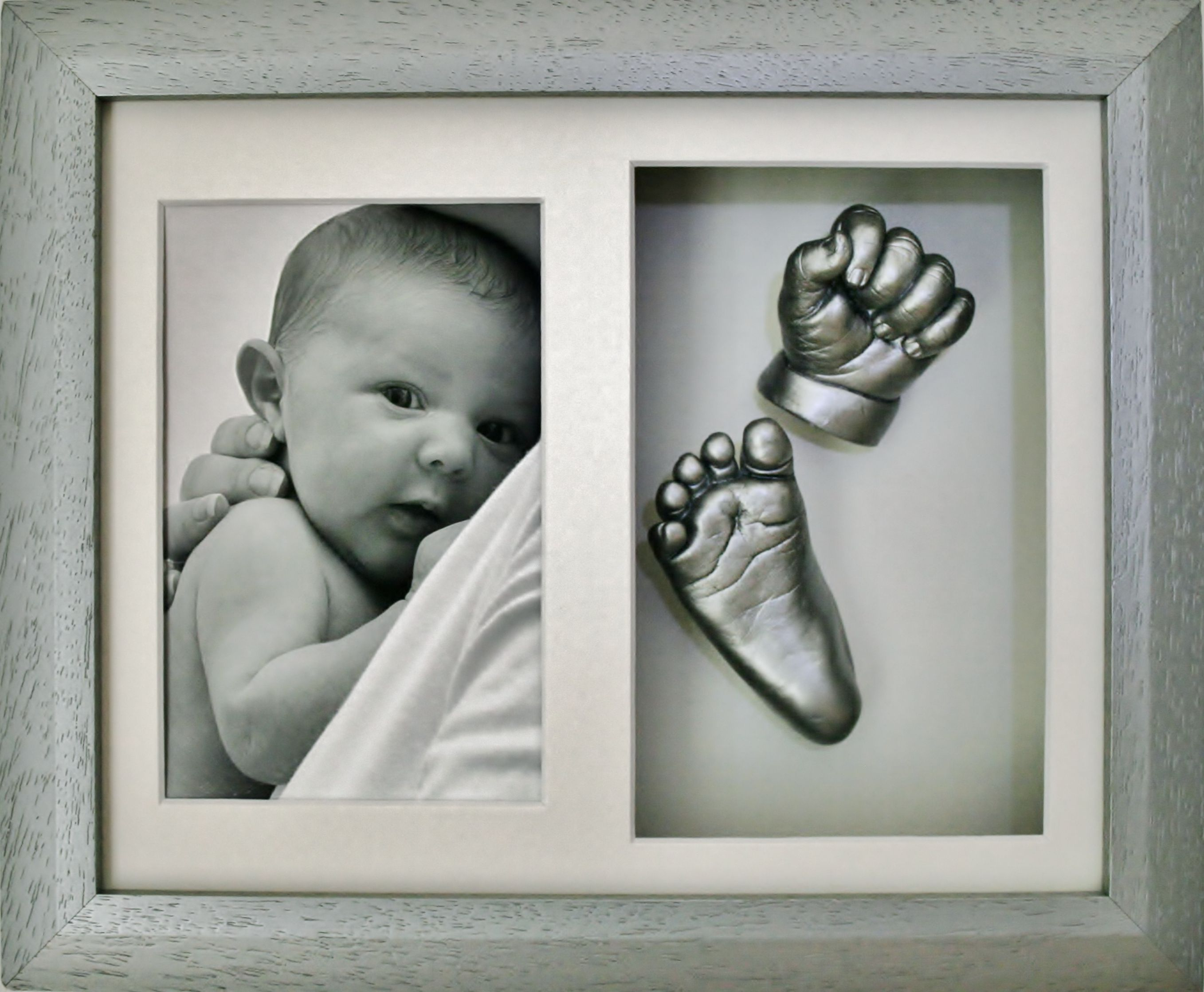 Baby Cast Frame Hand Foot Sculpture Keepsake Mould Casting Photo Clay Gift