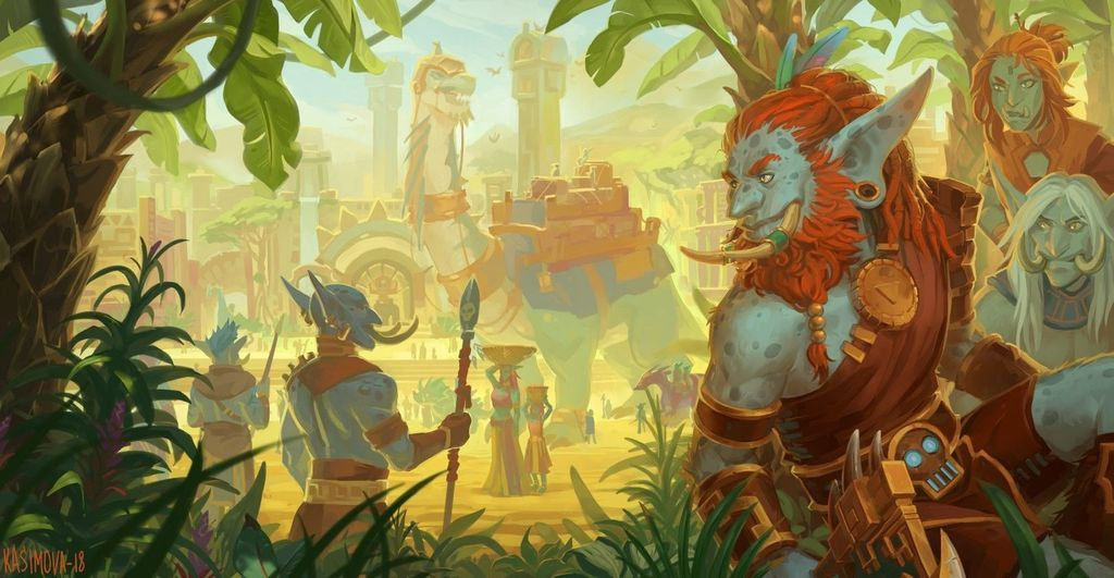 Zandalar Empire Horde Continent In Battle For Azeroth World Of