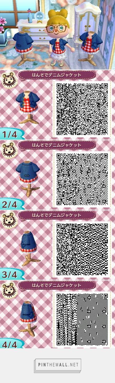 まるまる村だより 半袖デニムジャケット Created Via Https Pinthemall Net Animal Crossing Qr Animal Crossing Qr Codes Clothes Qr Codes Animal Crossing