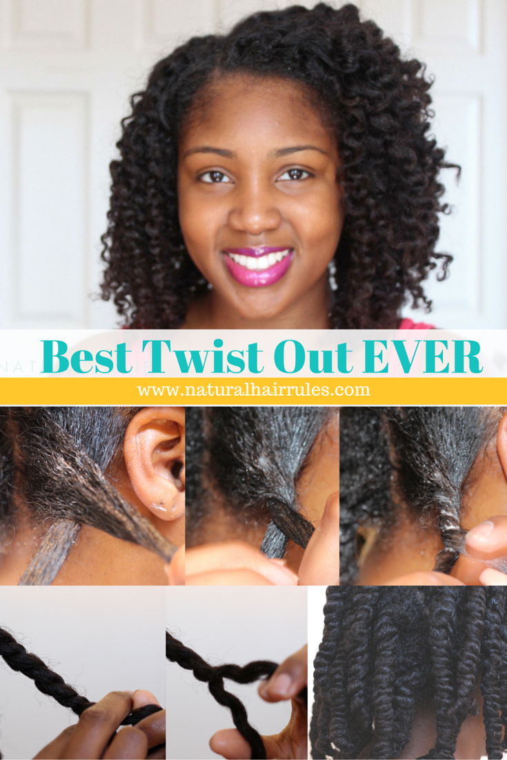 Natural Hairstyle 5 Easy Steps To Your Best Two Strand Twist Out Ever Natural Hair Rules Natural Hair Twist Out Natural Hair Styles Natural Hair Twists