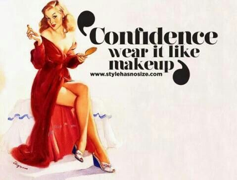 Confidence... Accentuate and highlight the real you with makeup AND confidence.