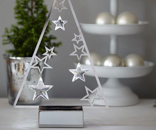 e55173f437b2 Swarovski Silver Christmas Figurine CHRISTMAS TREE DISPLAY   ORNAMENTS   5064271 Size  10 15 16 x 7 3 16 x 2 1 16 inch Includes three clear crystal  ornaments ...