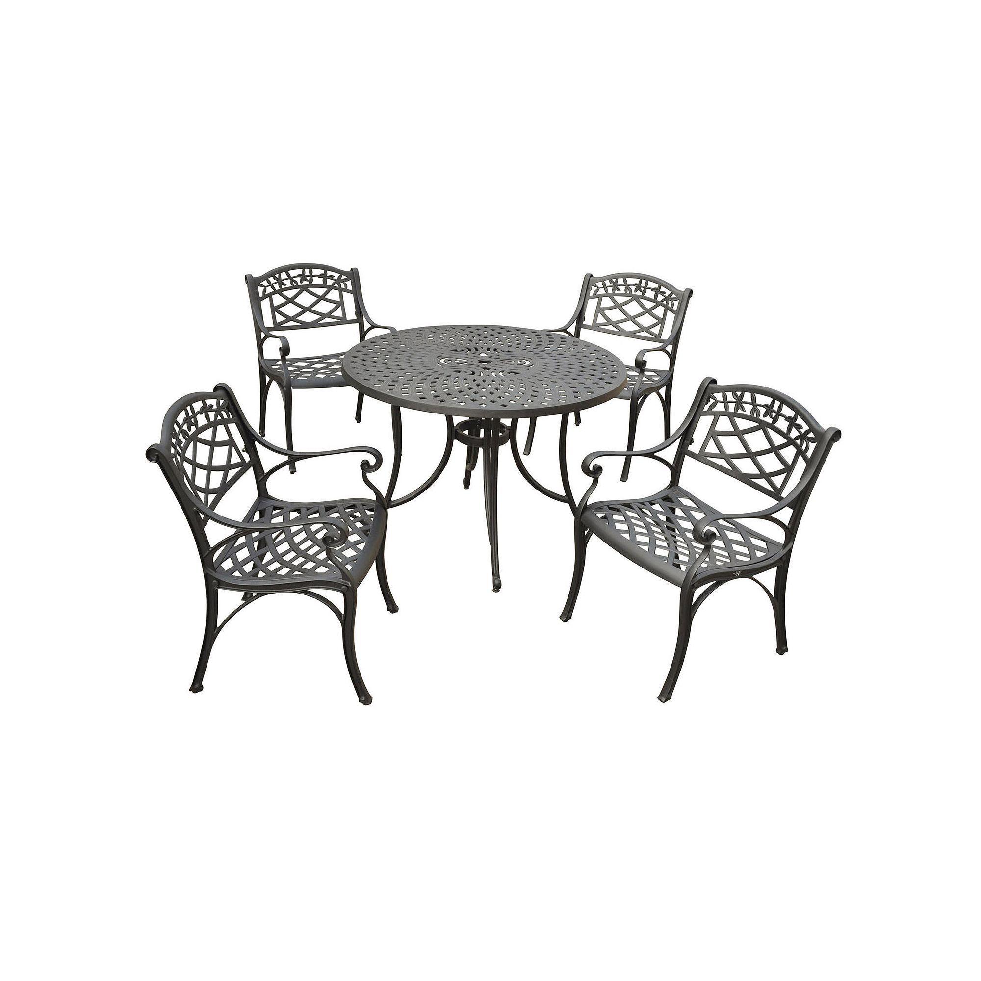 Sedona 42 5 Piece Cast Aluminum Outdoor Dining Set