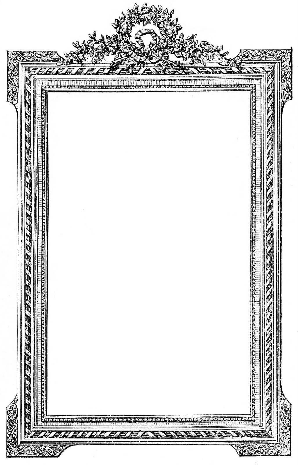 Antique French Picture Frame - Clip Art Image | Clip art, Graphics ...