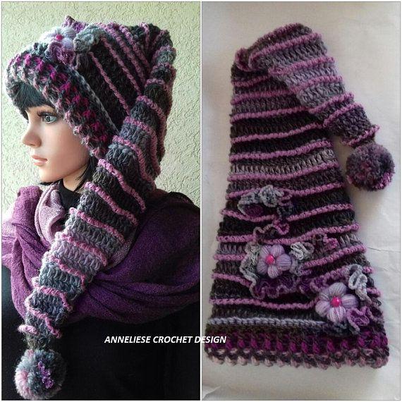 Elf Hat/Original and Unique Hat Design/Pixie Hat /Long tail hat ...