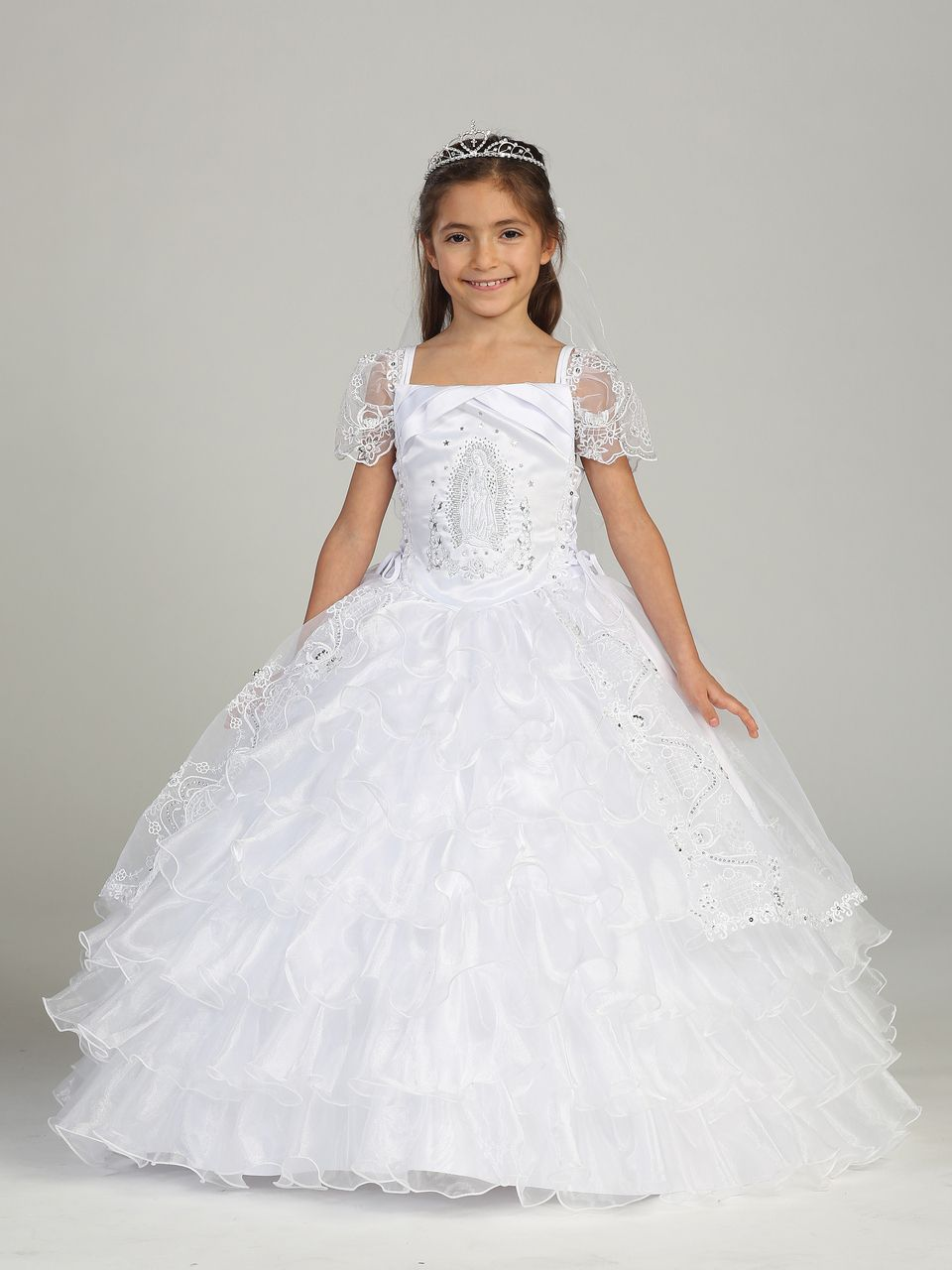 Communion Dress With Virgin Mary First Holy Communion White Gown Dresses Girls Dresses Christening Gowns [ 1280 x 960 Pixel ]