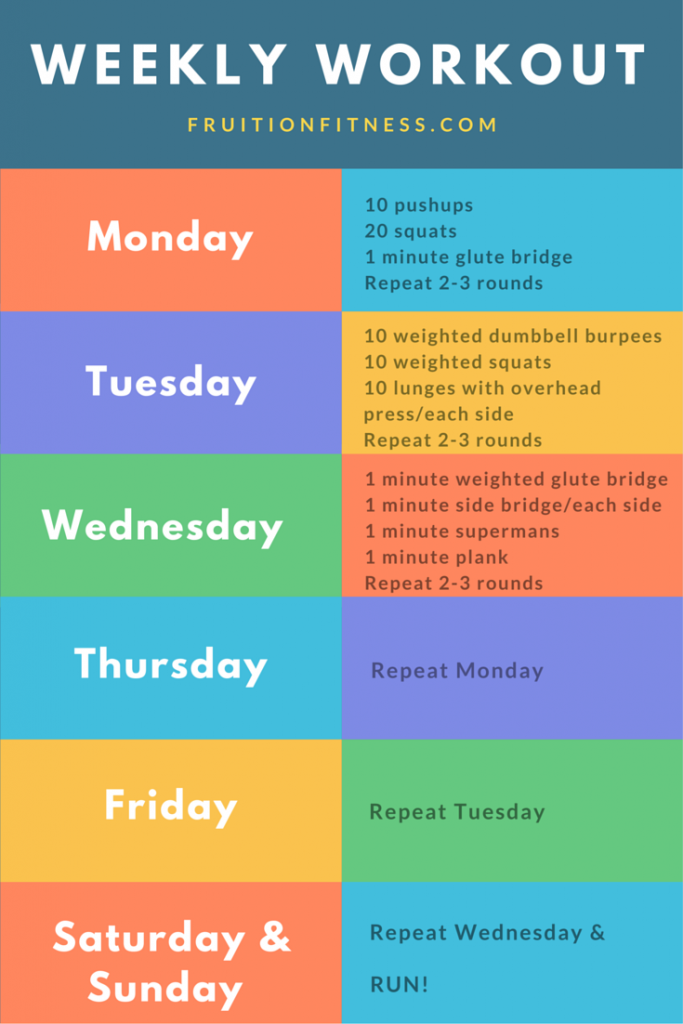 The Get It Done Weekly Workout Plan  Weekly Workout Plans