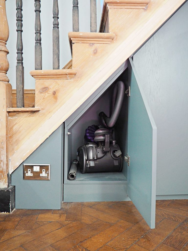 Bespoke Under Stairs Shelving: Bespoke Oak Veneer Under Stairs Cupboard With U Furniture