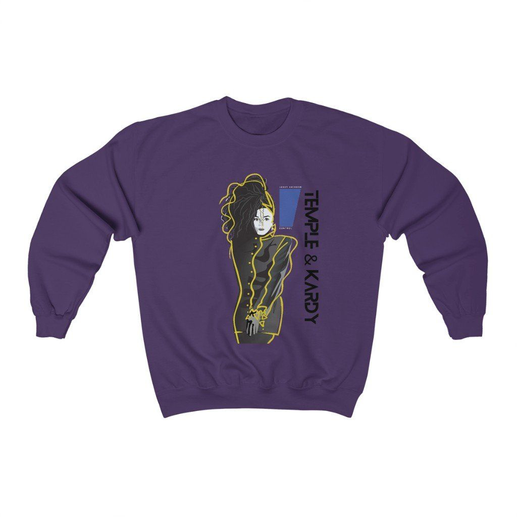 Miss Janet – (Unisex) Sweatshirt – Purple / XL