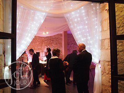 location voilage pour salle mariage