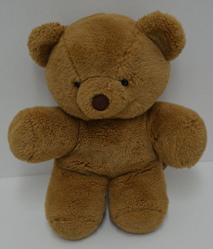 Vintage Etone Teddy Bear Plush Brown Stuffed Animal 14 1988 Teddy Bear Teddy Bear Plush Animals [ 1000 x 856 Pixel ]