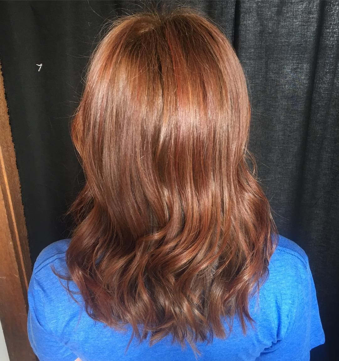 Dark Brown with Red Lowlights  Hair color with highlights