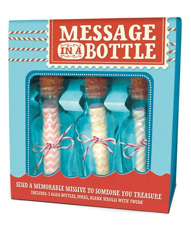 Another great find on #zulily! Message in A Bottle Set #zulilyfinds
