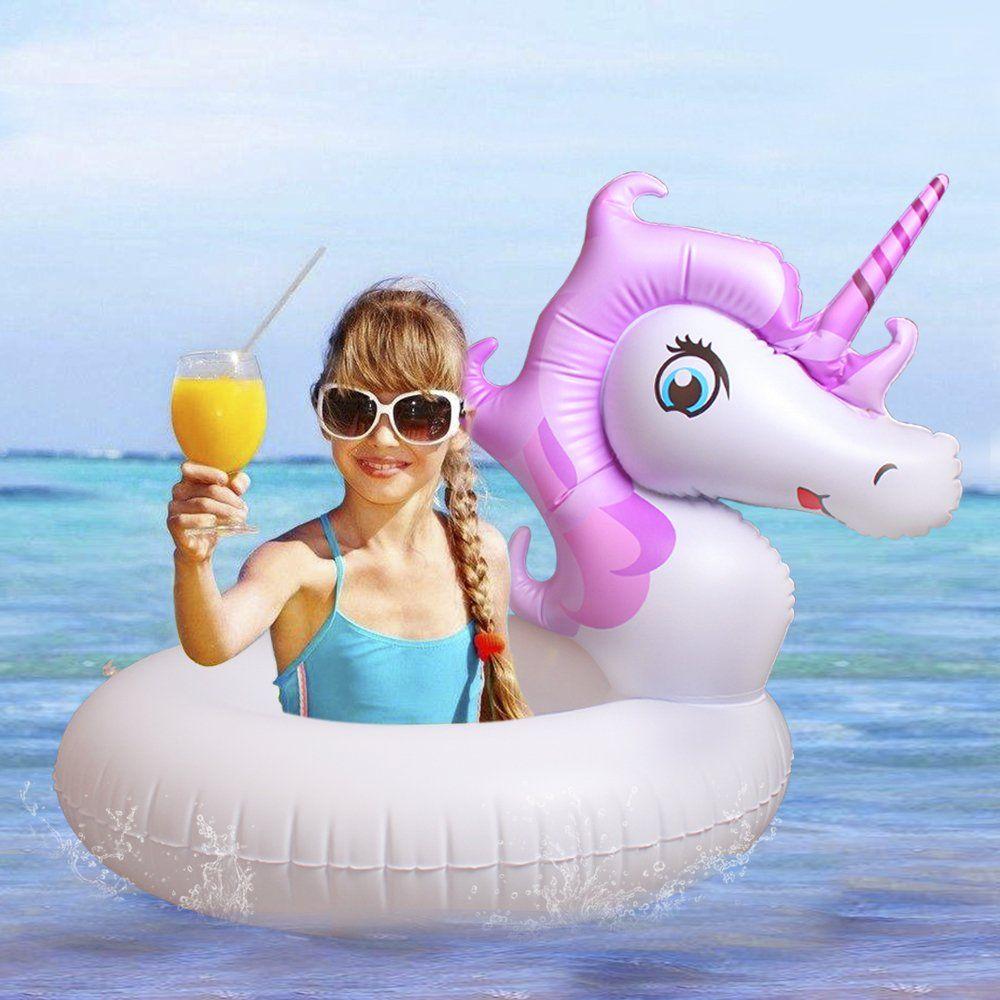 Inflatable unicorn Pool Float Party Tube Pool Raft Summer