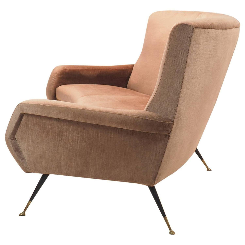 Italian Curved Sofa By Gigi Radice For Minotti Milano 1950s 1  # Muebles Butacas Modernas