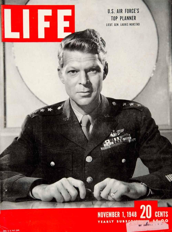 1948 Cover LIFE Lauris Norstad U S Air Force Lieutenant