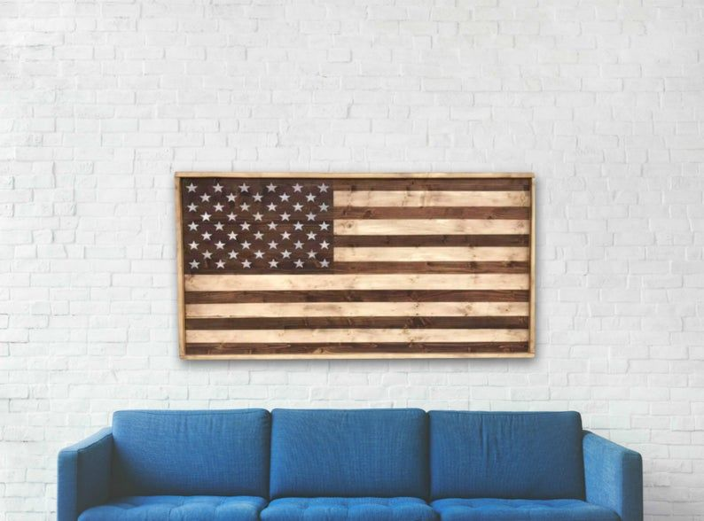 48x24 Wooden American Flag Wall Art American Flag Wood In 2020 American Flag Wall Art American Flag Wood Wooden American Flag