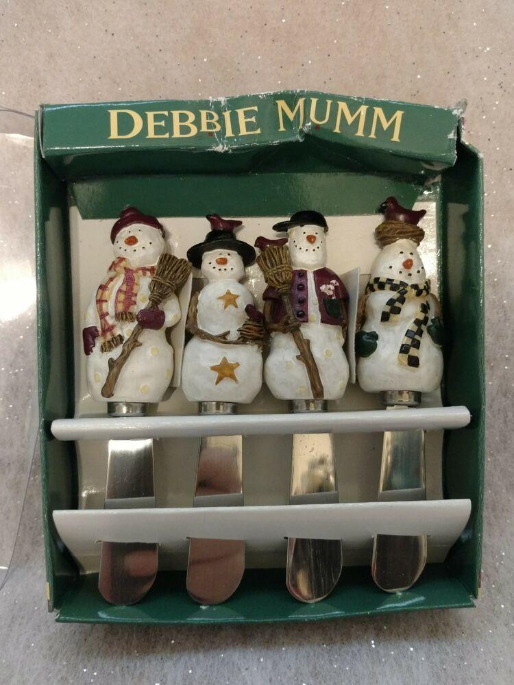 Details about Set 4 Debbie Mumm Cheese Spreader Stainless