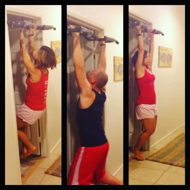 ...how we spend our Sunday night lmao ...pushing each other on the pull up bar.   I'm not there with pull ups but I use to not even be able to even pull myself up at all! Lol Bring on MONDAY❗️ I'm ready baby!  https://www.facebook.com/TeamJERF