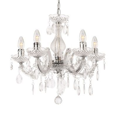 Discover the marie therese chandelier 5 light dual mount in silver from litecraft a stunning silver chandelier at an unbeatable price