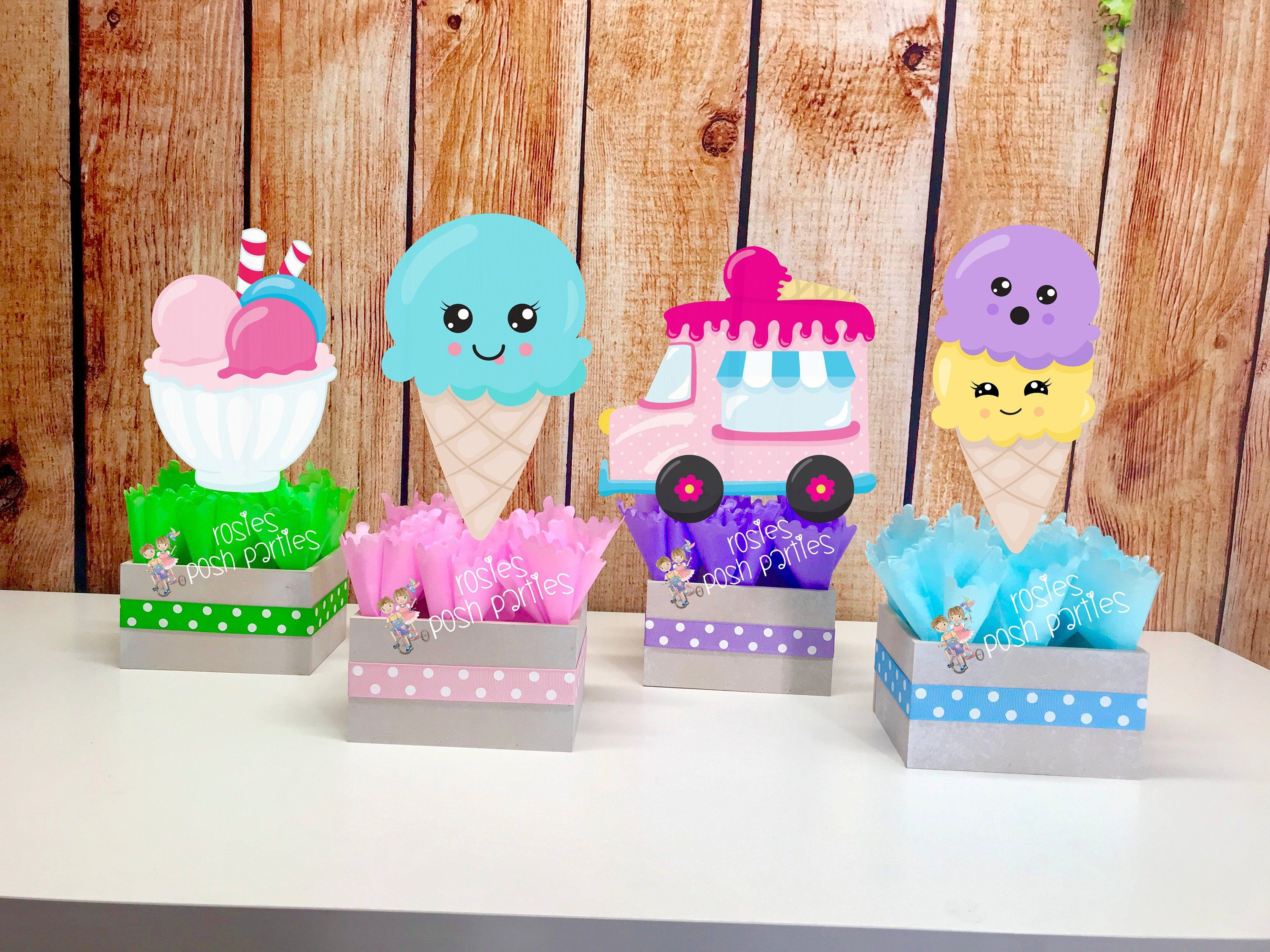 Ice Cream birthday party Favor centerpiece Ice Cream party decoration birthday First Birthday Favor Ice Cream Centerpiece PRICE PER PIECE #icecreambirthdayparty