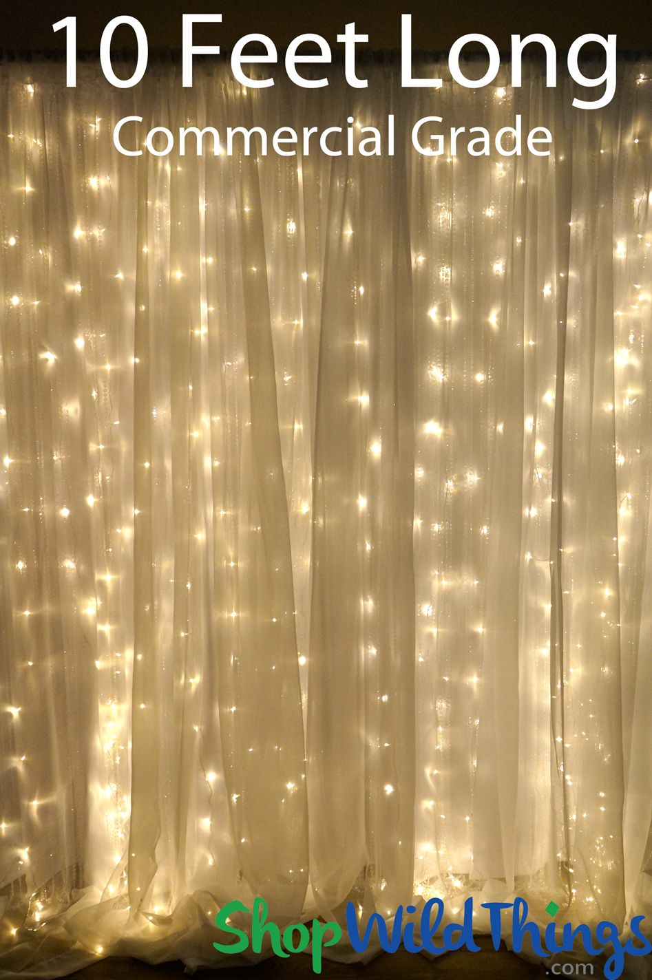 Coming Soon Led Light Curtain 200 Warm White Lights 10 Strands