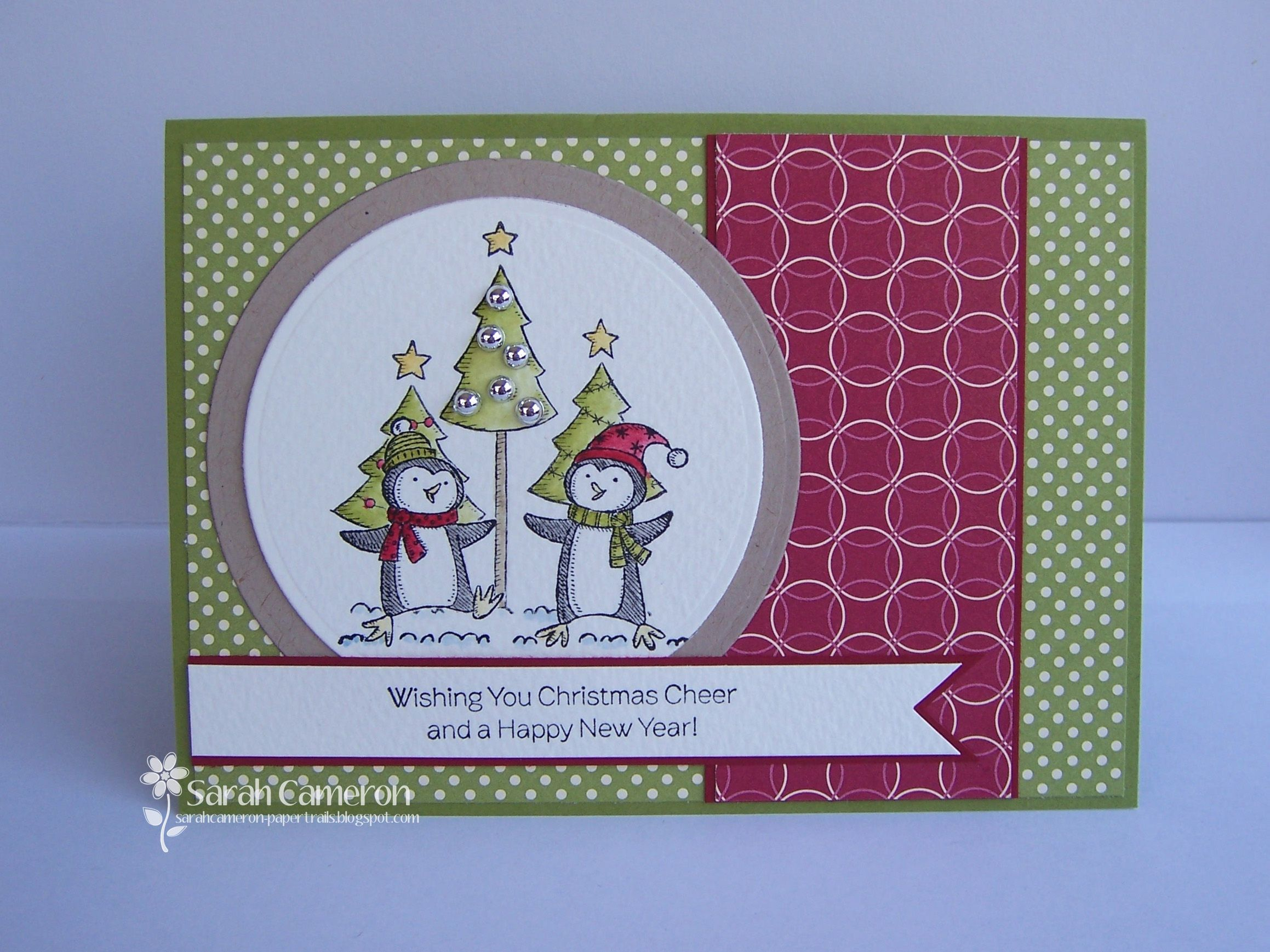 Stampin Up Christmas Polar Party Cards Cool Christmas
