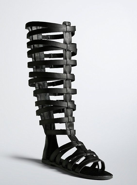 77673ff6123a Plus Size Tall Gladiator Cage Sandals (Wide Width   Wide Calf)