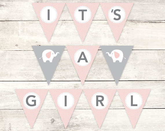 It S A Girl Banner Baby Shower Printable By